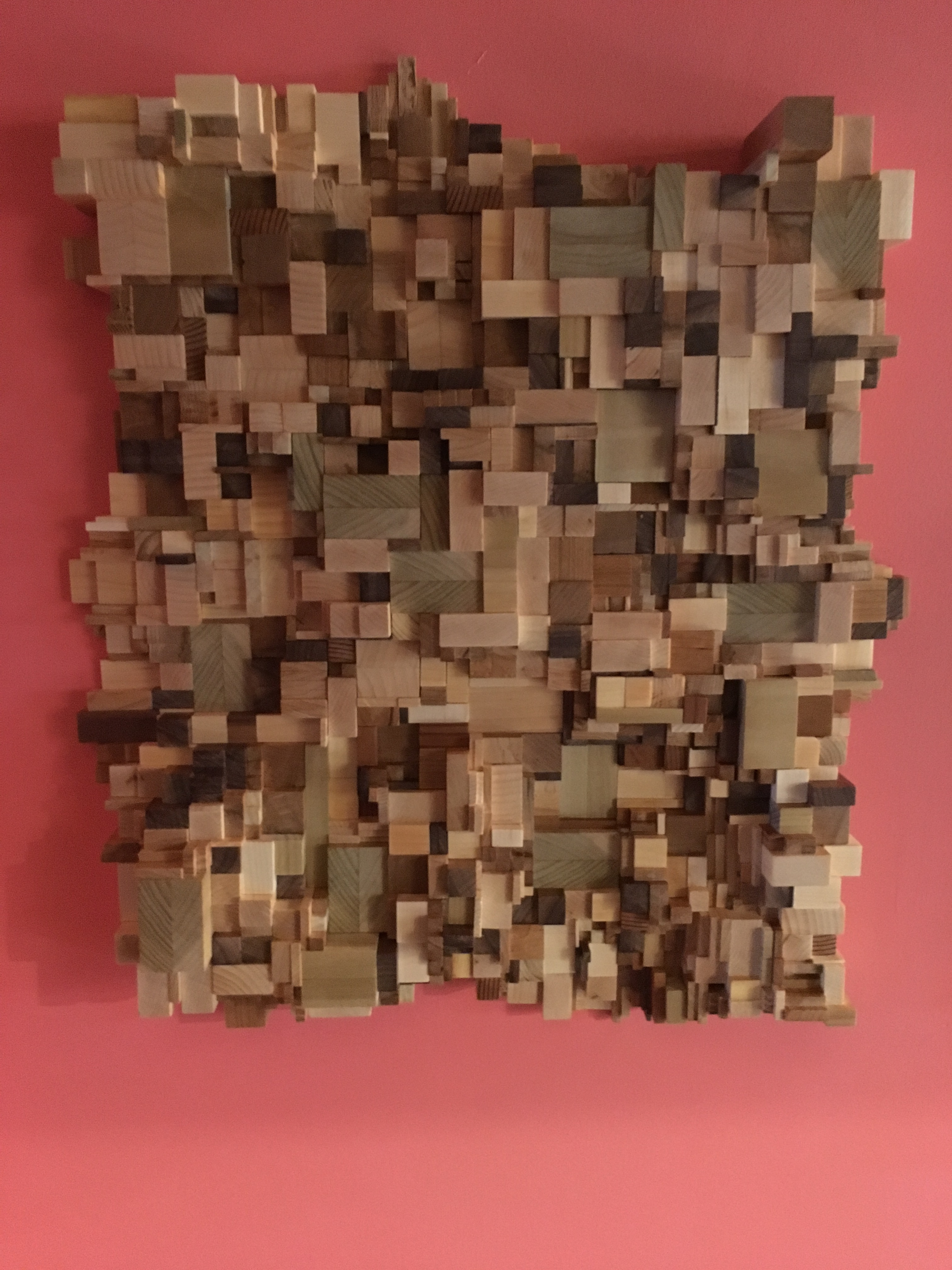 Scrap pieces of Oak, Cherry, Redwood, Maple, Chestnut,Pine and Poplar Finished with a satin poly