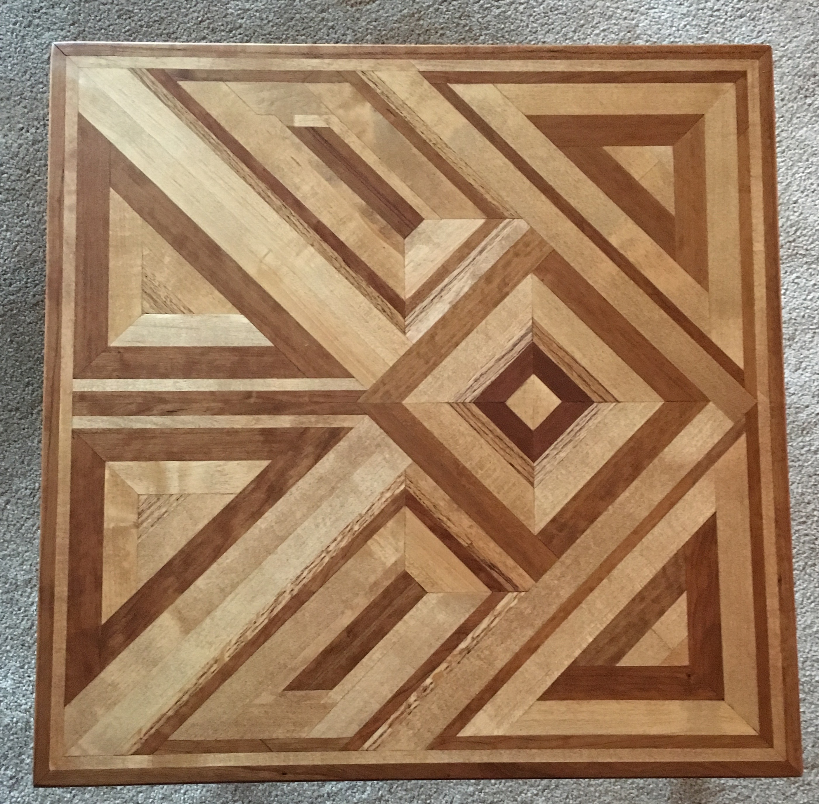 Oak & stained maple End Table
