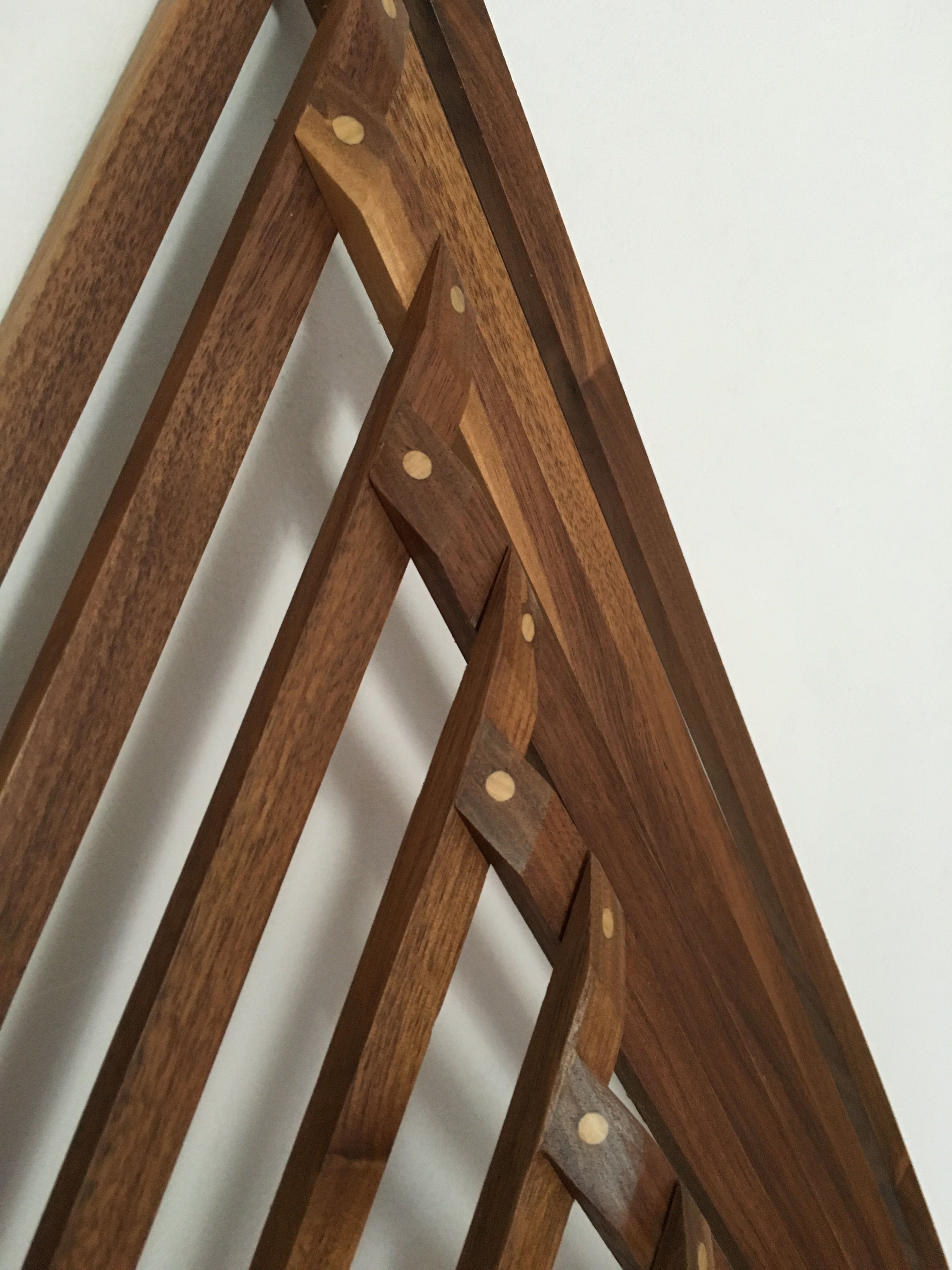 Strips of Chestnut. Doweled and glued.